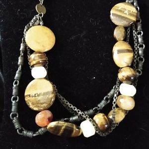 Furla Tiger's Eye Genuine Stone Necklace